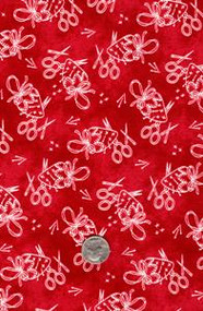 "Fresh Water Designs ""A Quilter's Garden"" Sewing Notions Red"
