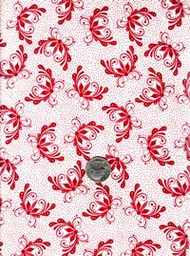 "Fresh Water Designs ""A Quilter's Garden"" Red Floral"