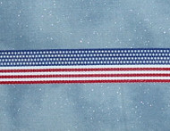 American Flag Grosgain Ribbon
