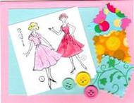 """Handmade Notecard"" Pink"