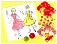 """Handmade Notecard"" Yellow/Red"