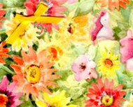 """Handmade Notecard"" Floral"