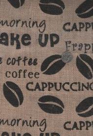"""Springs """"Printed Burlap"""" Coffee Beans"""