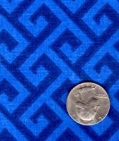 "Springs Industries ""Greek Key"" Blue Fat Quarter"