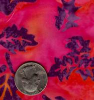 AAAQuilter's Supply Batik Pink Leaf 019