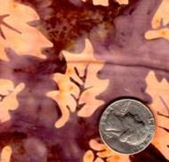 AAAQuilter's Supply Batik Brown/Orange Leaf 052
