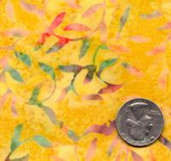 AAAQuilter's Supply Batik Yellow Vine 001