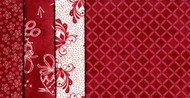 Fresh Water Designs Red Fat Quarter Bundle (4 fat quarters)