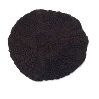 Black Knit Beanie (Satin Lining Optional)