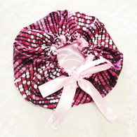 Pink Disco Reversible Satin Bonnet