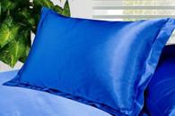 Blue Silk Satin Pillowcase