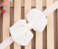 Cream Chiffon Bow Headband