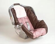 Cream Satin Infant Car Seat and Crib Hair Protector Set