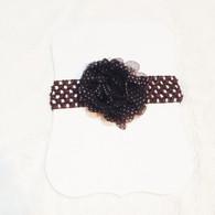 Brown Spotted Crochet Headband