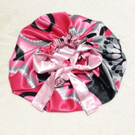 Pearls N Curls Reversible Satin Bonnet
