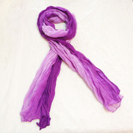 Purple Ombre Crinkle Scarf