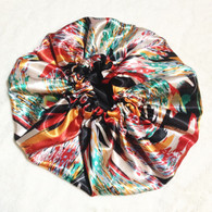 Koi Pond Reversible Satin Bonnet