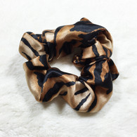 Tiger Stripes Satin Scrunchie