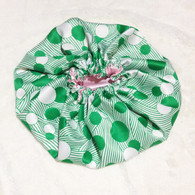 Crop Circles Reversible Satin Bonnet
