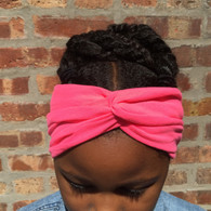 Solid Pink Turban Headband