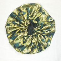 Gold Palace Reversible Satin Bonnet