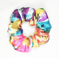 Water Color Satin Scrunchie