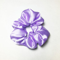 Solid Lavender Satin Scrunchie