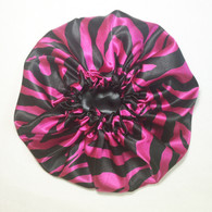 Strawberry Licorice Reversible Satin Bonnet