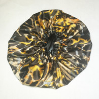Brown Sugar Reversible Satin Bonnet