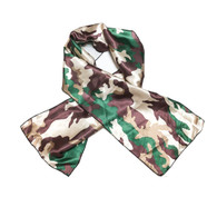 Camo Edge Laying Rectangular Satin Scarf