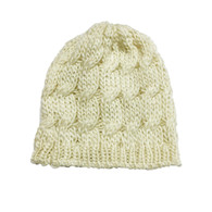 Cream Infant/Toddler Knit Hat