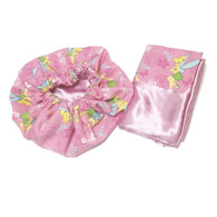 Tinkerbell Satin Bonnet and Pillowcase Set
