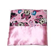 Minnie Mouse Pink Satin Pillowcase