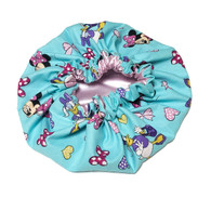 Minnie Mouse Teal Satin Bonnet