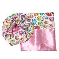 Shopkins Satin Bonnet and Pillowcase Set