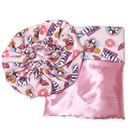 Paw Patrol Skye Satin Bonnet and Pillowcase Set