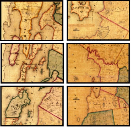 Lake Champlain Historic Maps- Unframed Set of 6