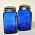 Cobalt Blue Glass Salt and Pepper Set