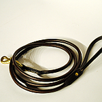 Rolled Bridle Leather Dog Leash 6ft-Solid cast brass Snap