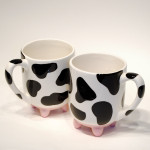 Cow Udder Mugs Set