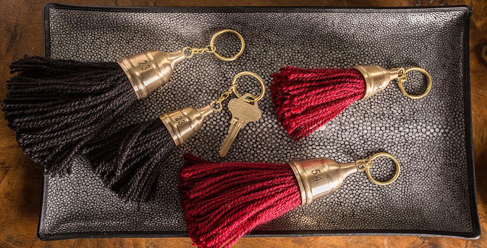 Brass Hotel Keys
