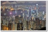 Breathtaking Hong Kong - Night Aerial View