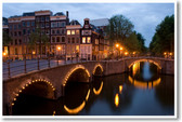 Amsterdam, Netherlands at Dusk