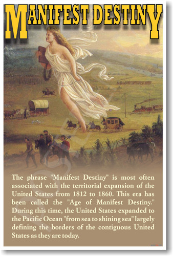 """the meaning of manifest destiny a painting by john gast What is manifest destiny overhead transparency of painting american progress, john gast look at the class definition of """"manifest destinyjohn o'sullivan."""