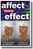 PosterEnvy - Affect Vs Effect 2 - NEW Classroom Language Arts Poster