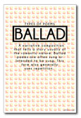 Ballad - NEW Classroom Reading and Writing Poster