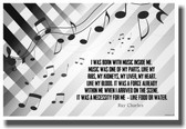 I Was Born with Music Inside Me - Ray Charles - NEW Musician Quote Poster