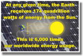 174 Quadrillion Watts - NEW Science Poster