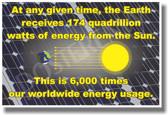 174 Quadrillion Watts - NEW Science Poster