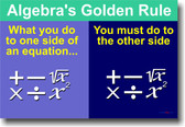 Algebras Golden Rule - Classroom Math Poster